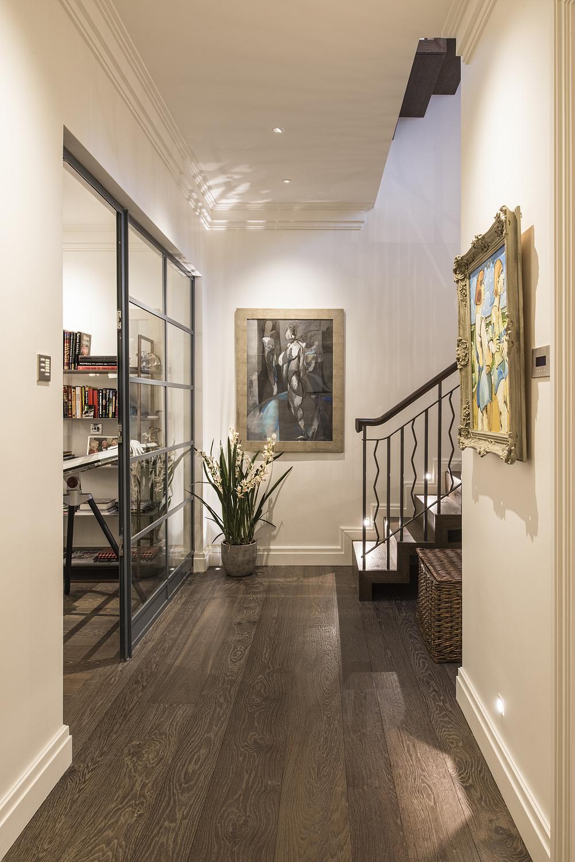 Basement hallway, London mews house