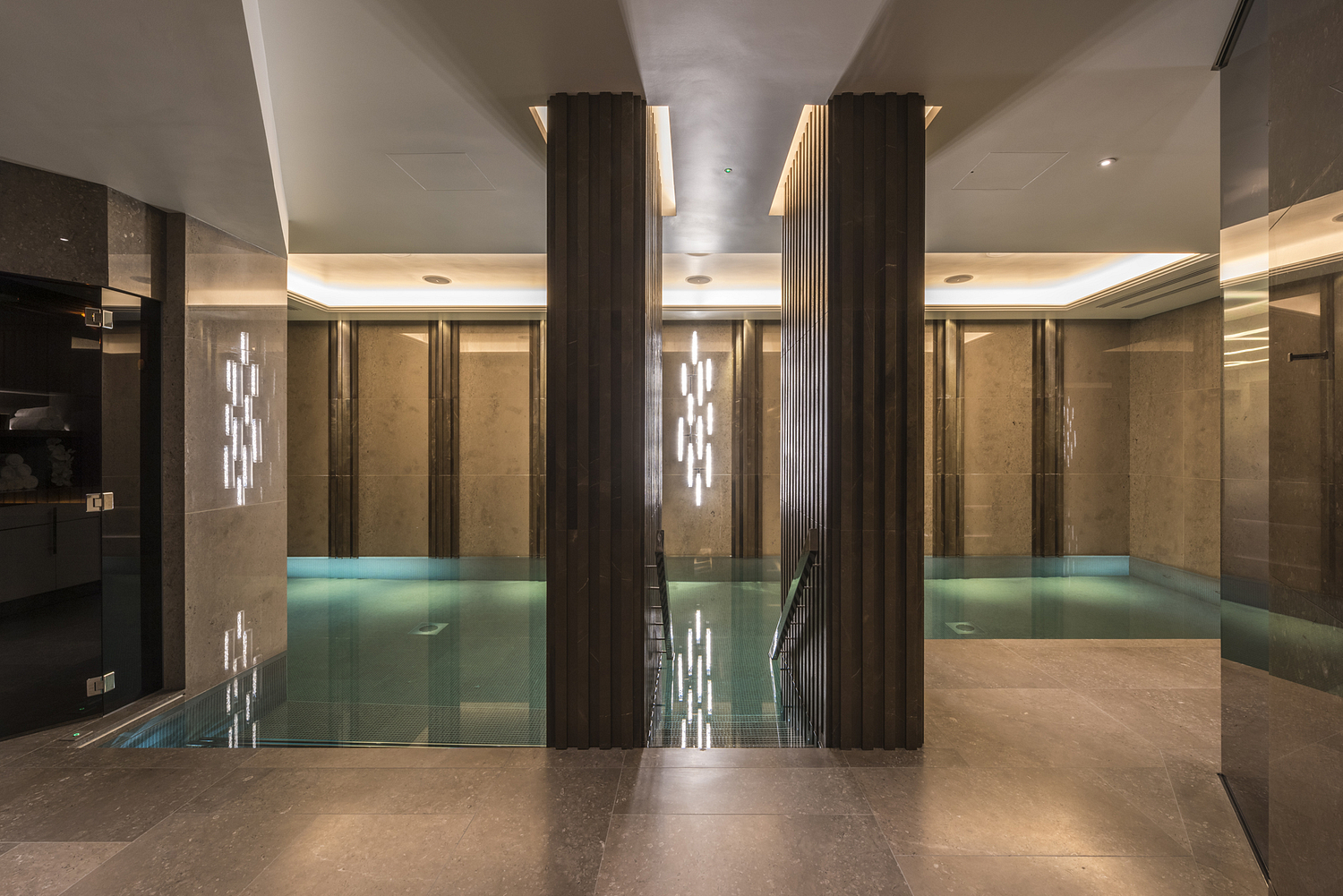 Basement swimming pool detail, London residential apartments