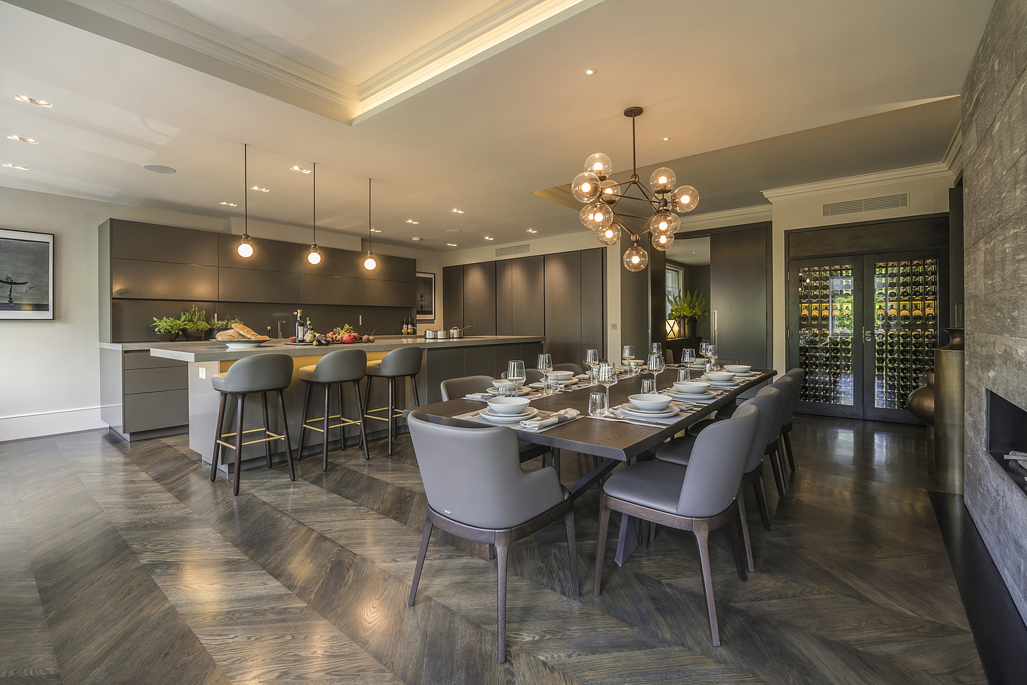 Kitchen and dining area, Knightsbridge apartment