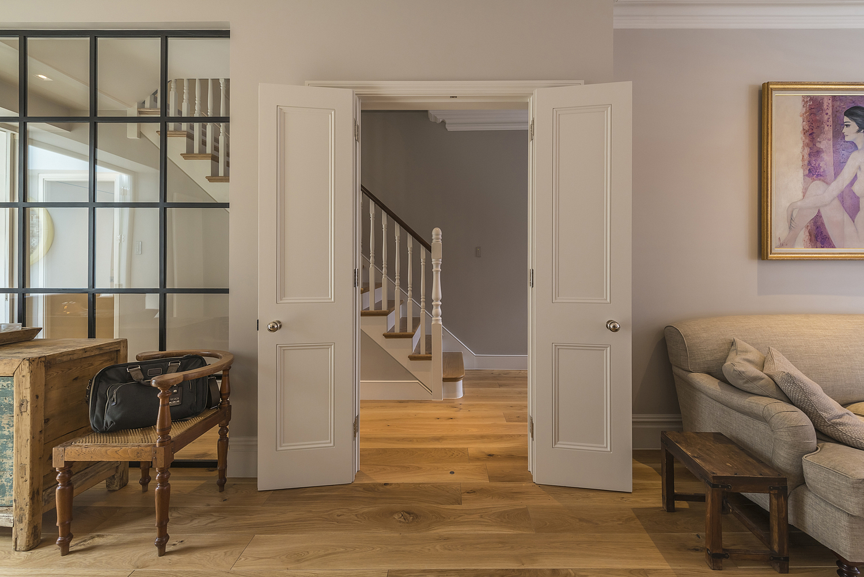 Double doors detail, London apartment