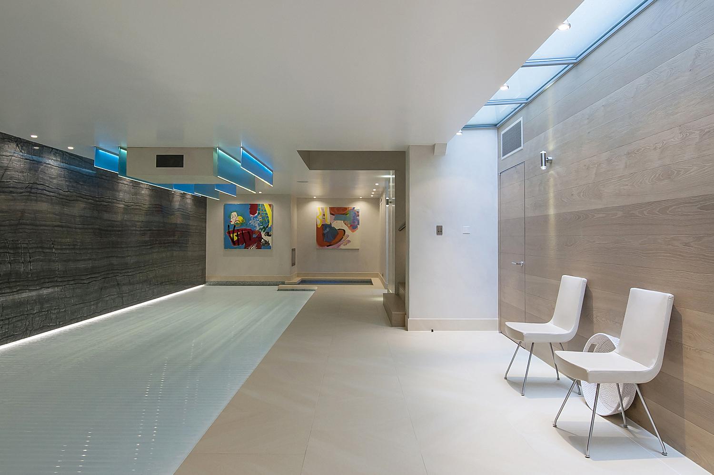Basement swimming pool, London residence