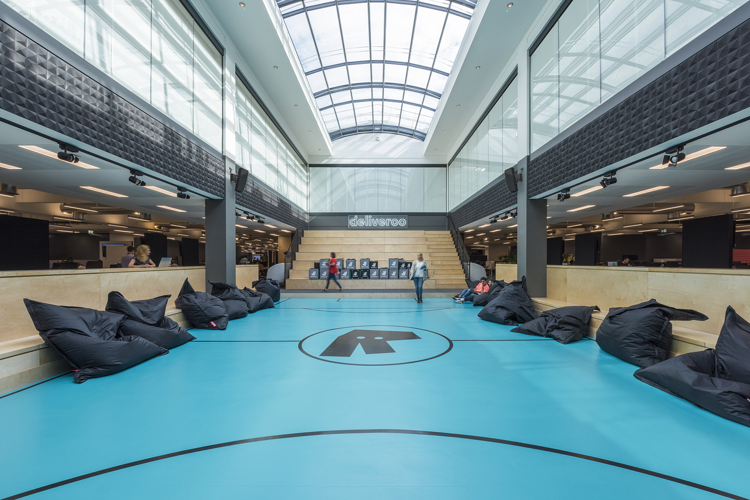 The Roo-ball pitch, Deliveroo offices, London