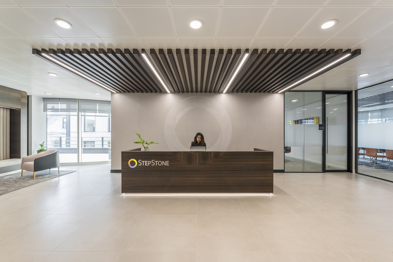 Reception area, office, London