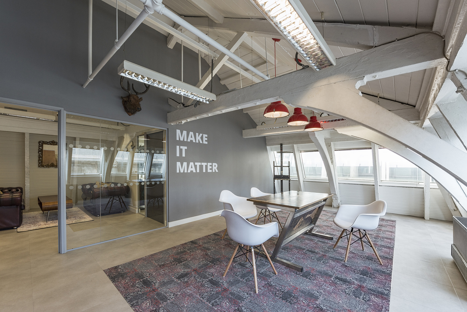 Office conference room with beams, London
