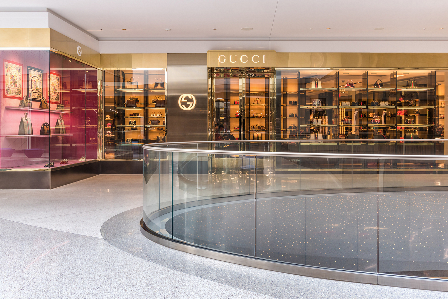 Gucci store front, Beverly Center, Los Angeles