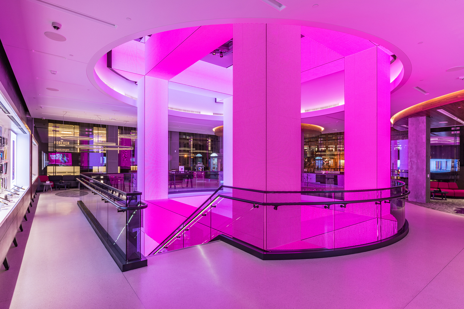 T-Mobile flagship store at night, San Francisco