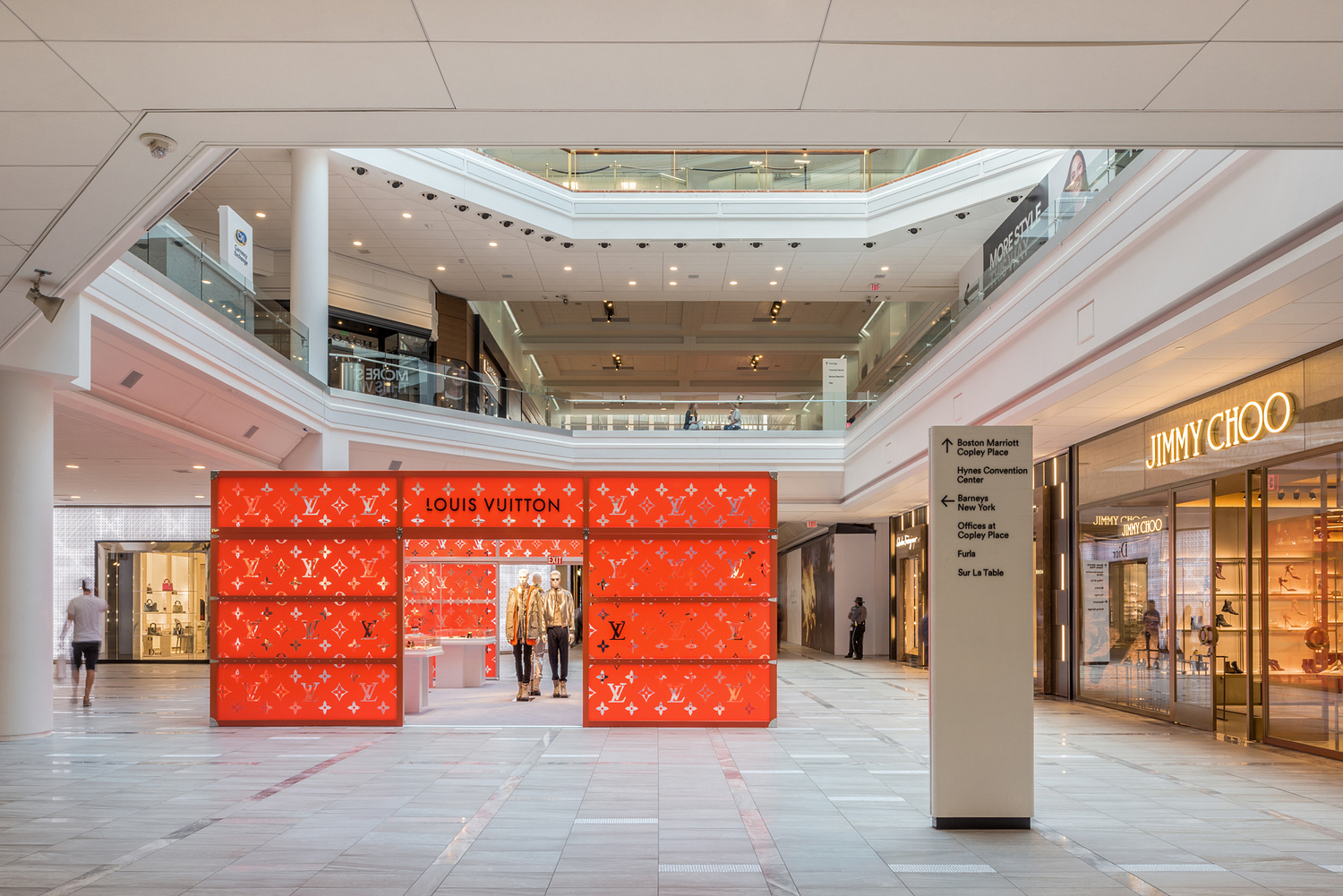 Louis Vuitton pop-up store, shopping mall, Boston