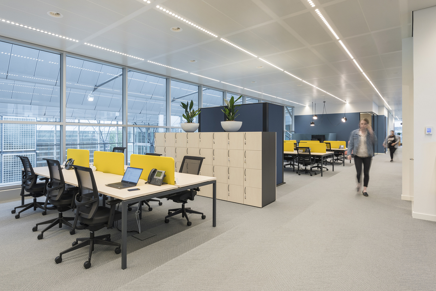Open plan desking, offices, Amsterdam