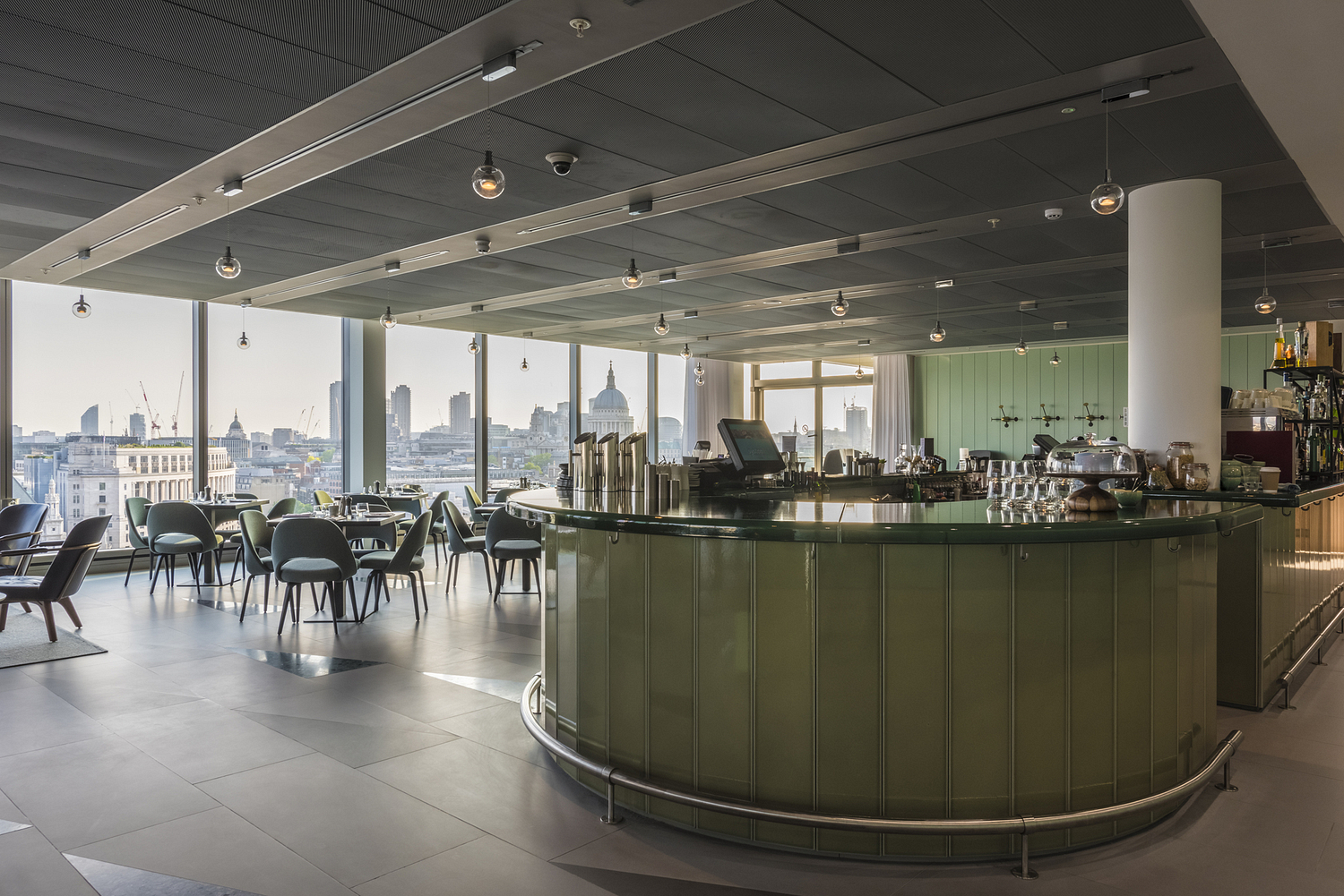 Restaurant overlooking London, Sea Containers, London