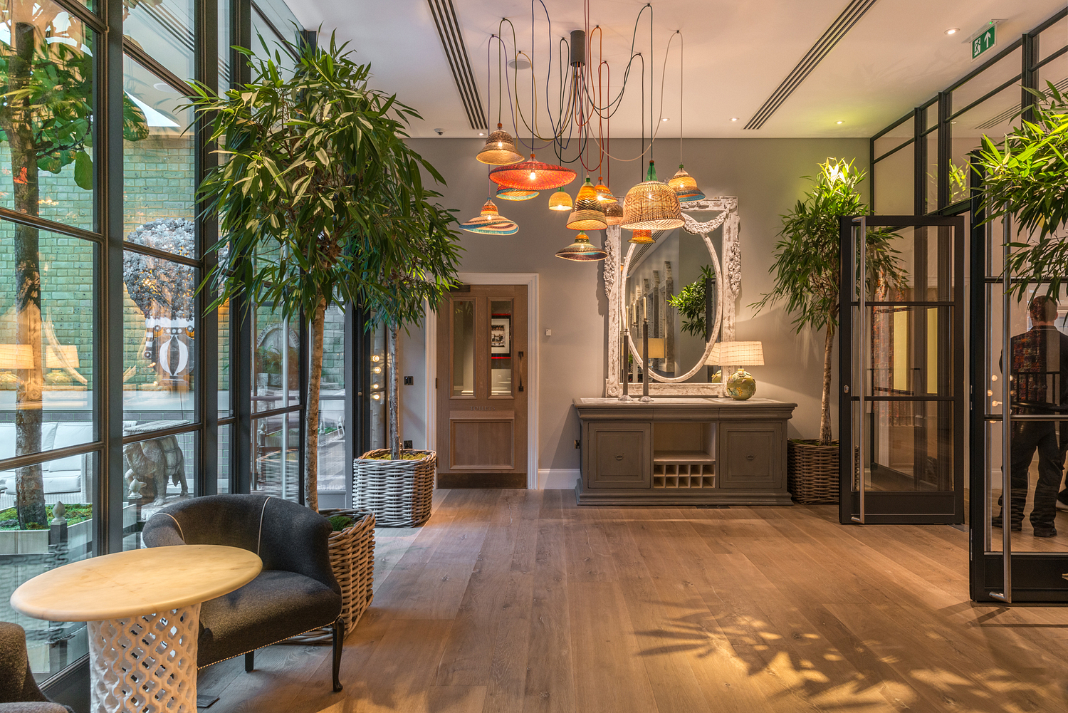 Public area, Ham Yard Hotel, London