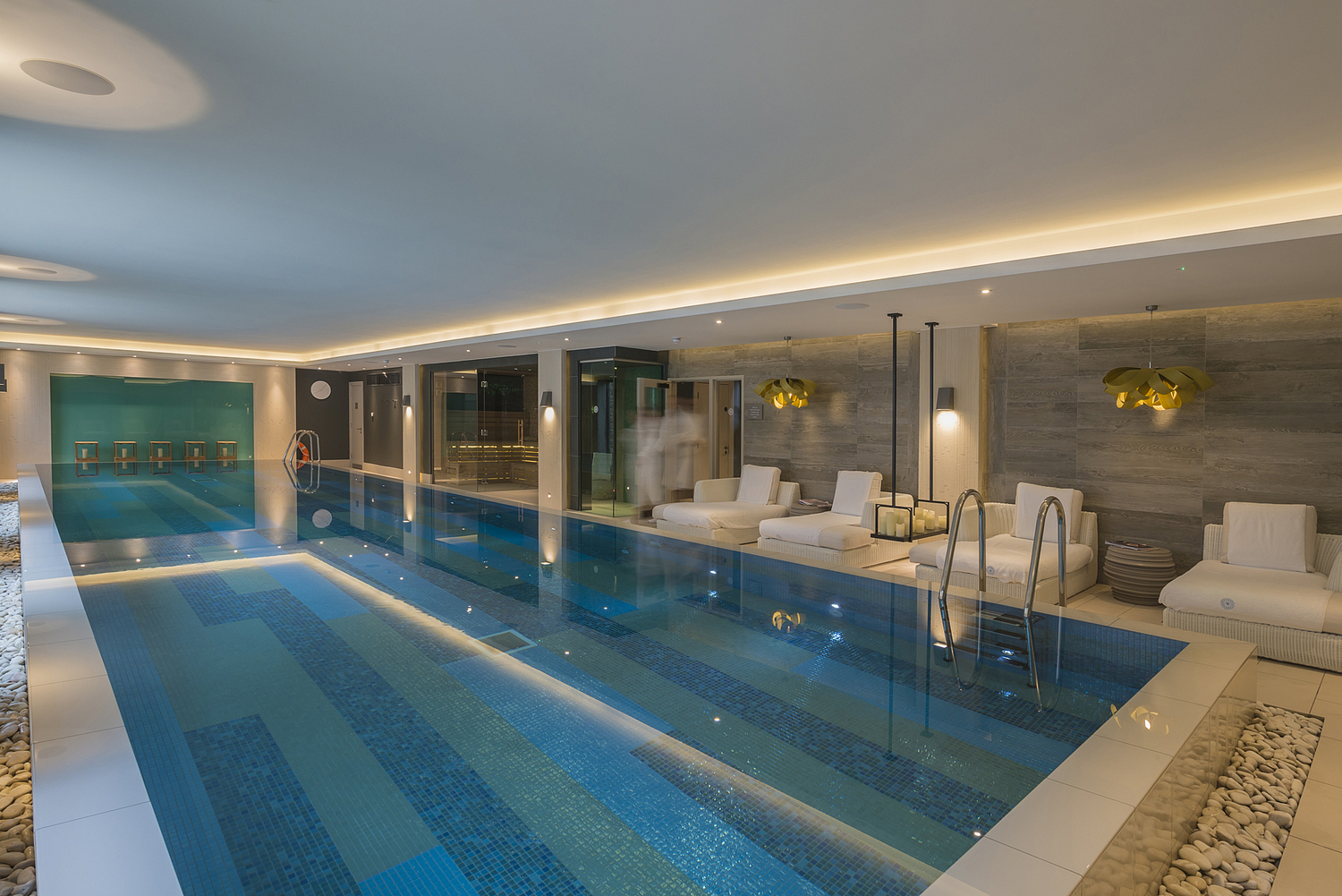 The pool, hotel, Cotswolds