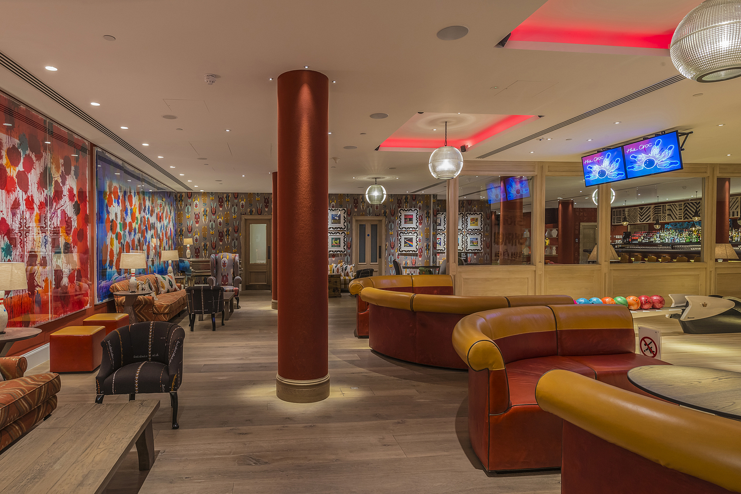 Bowling and recreation area, Ham Yard Hotel, London
