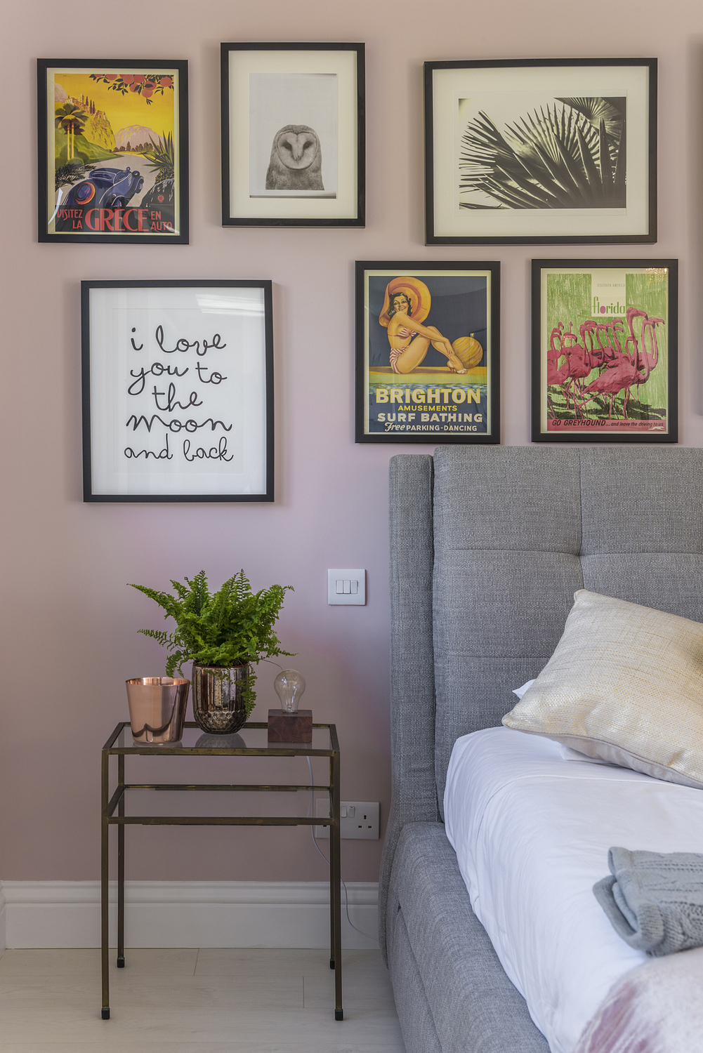 Bedside detail with pictures, London