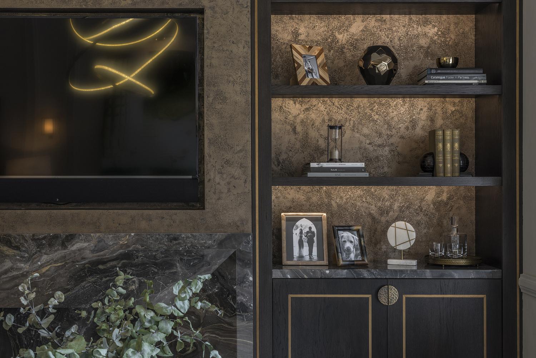 Living room shelf detail, London