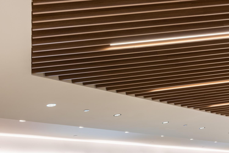 Ceiling baffle detail, food court, Edmonton