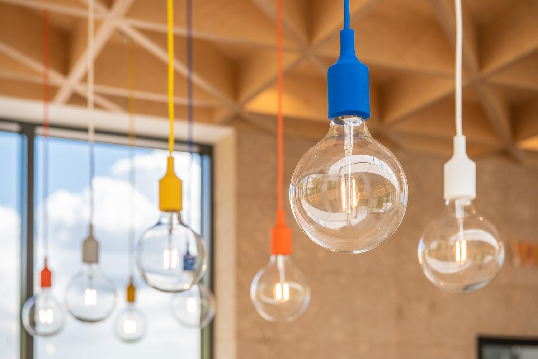 Muuto pendant lights detail, Marketing suite