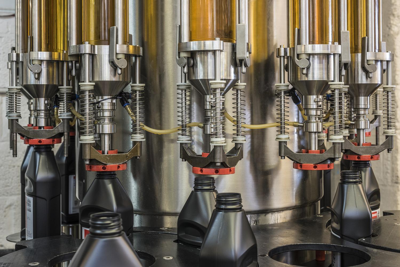 Production line detail, bottling plant, London
