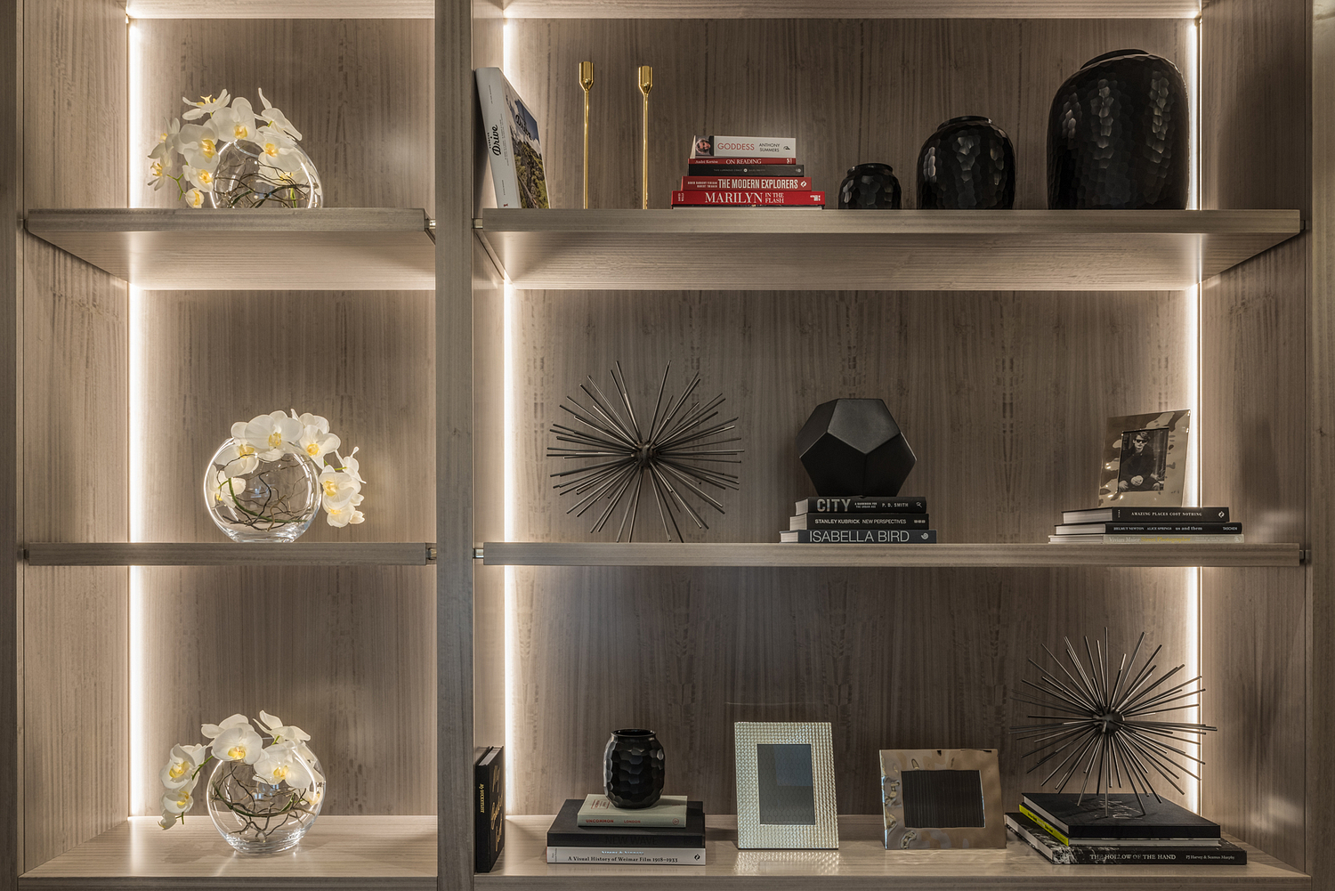 Home office shelving detail, London