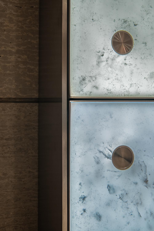Backlit glass detail, Washington DC