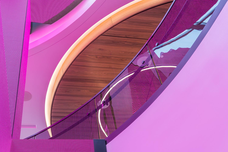 Architectural detail, T-Mobile store, San Francisco