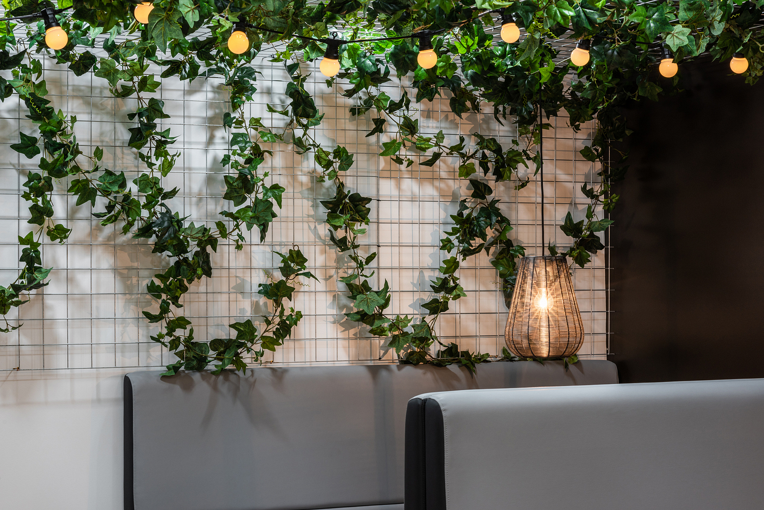 Breakout area with foliage and pendants, Scotland