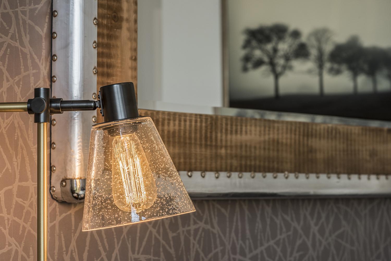 Task lamp detail, show apartment, London