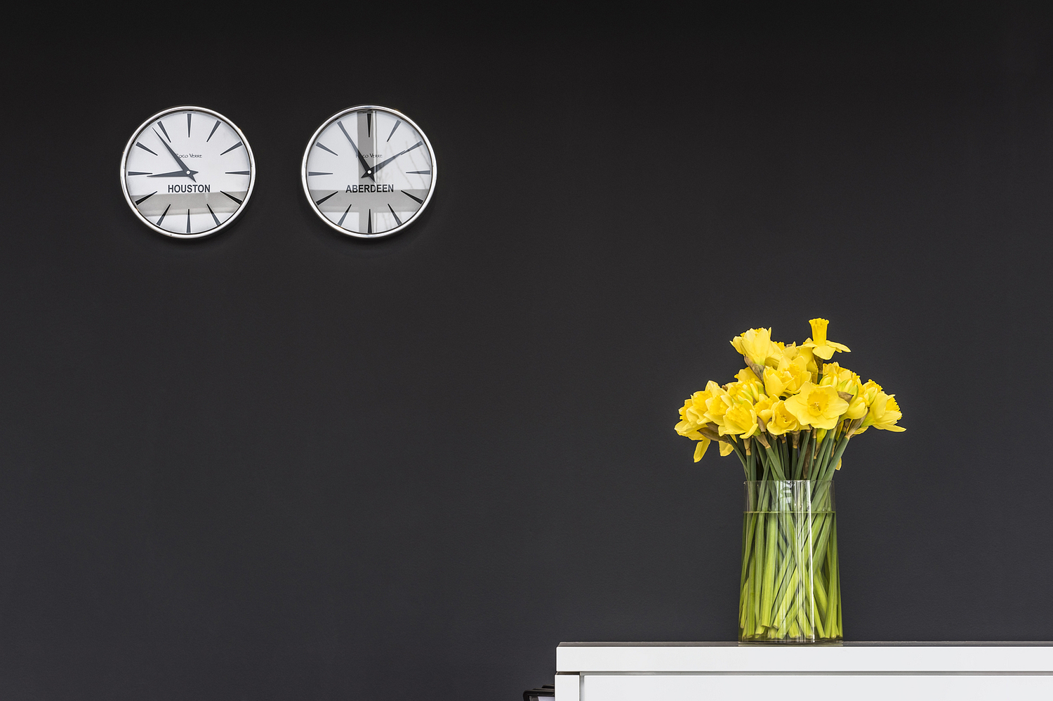 Clocks and daffodills, Aberdeen