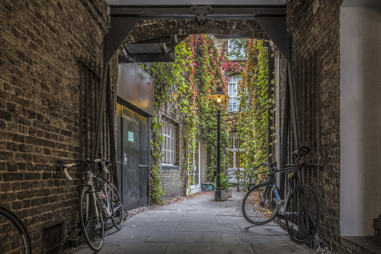 Alleyway view, London