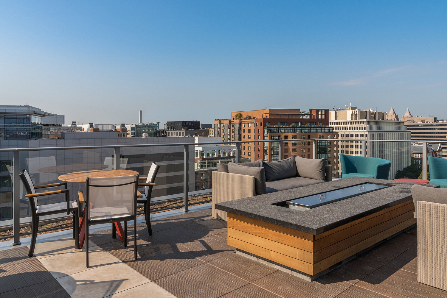 Communal roof terrace, apartment building, Washington DC
