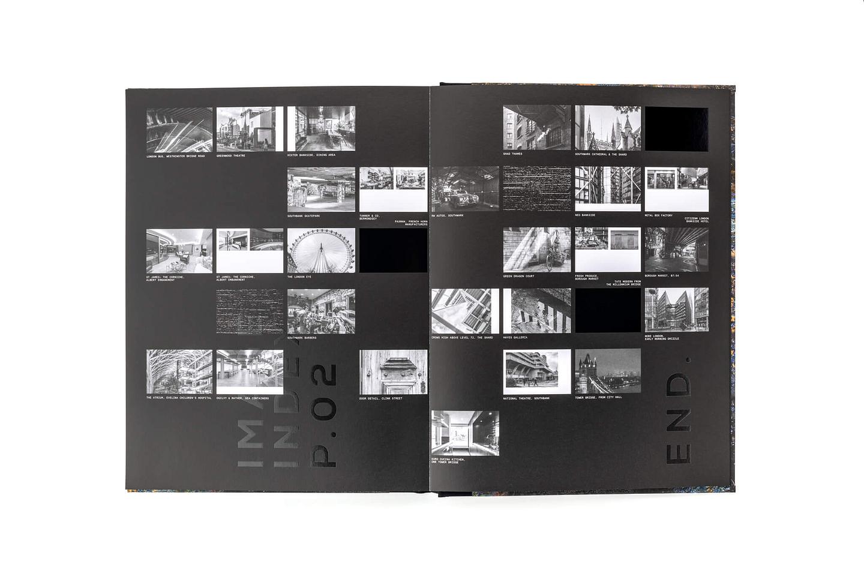 SE1 book internal spread - index of images
