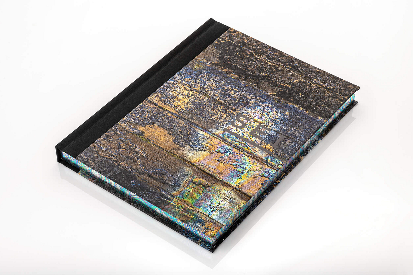 SE1 book cover and foiled edge