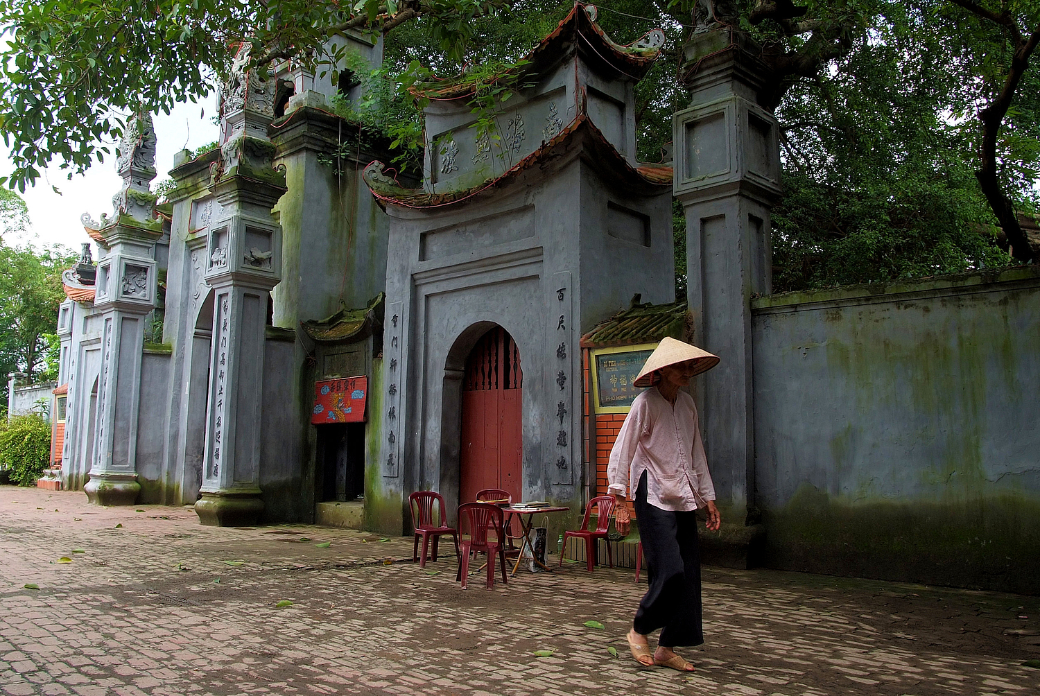 Old Woman at the Temple