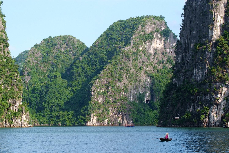 Alone in Ha Long Bay