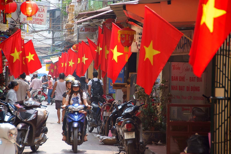 Hanoi Street of Flags