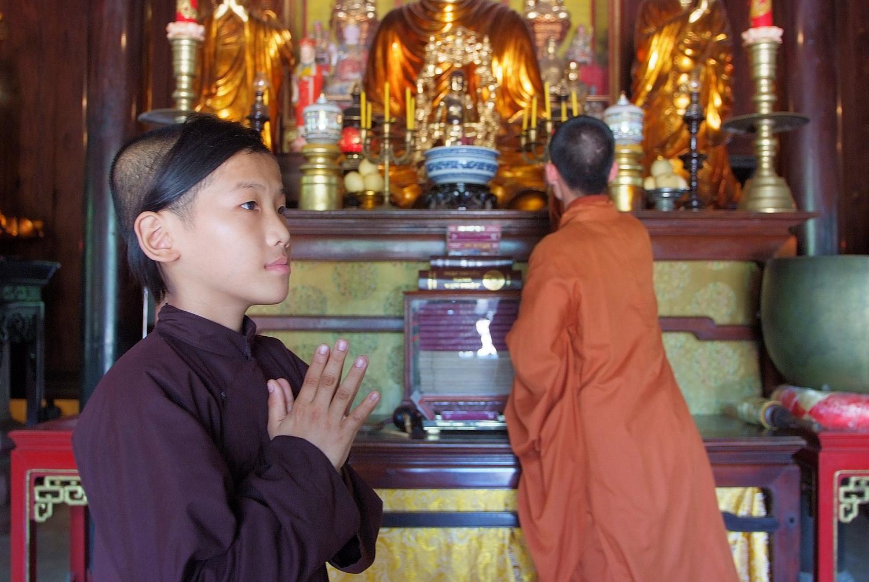 Young Monk at Prayer