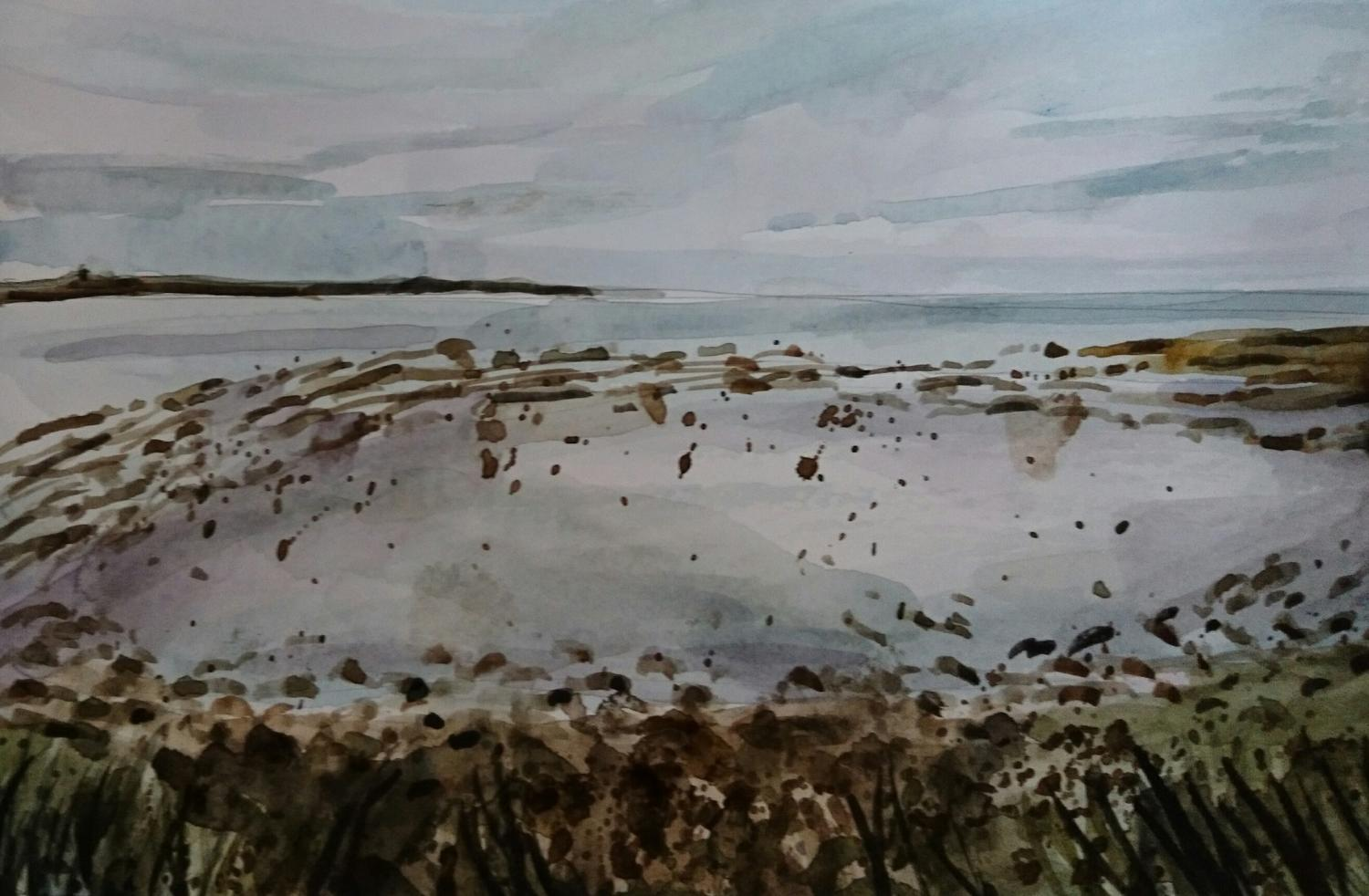 Papa Westray, Watercolour, 2017