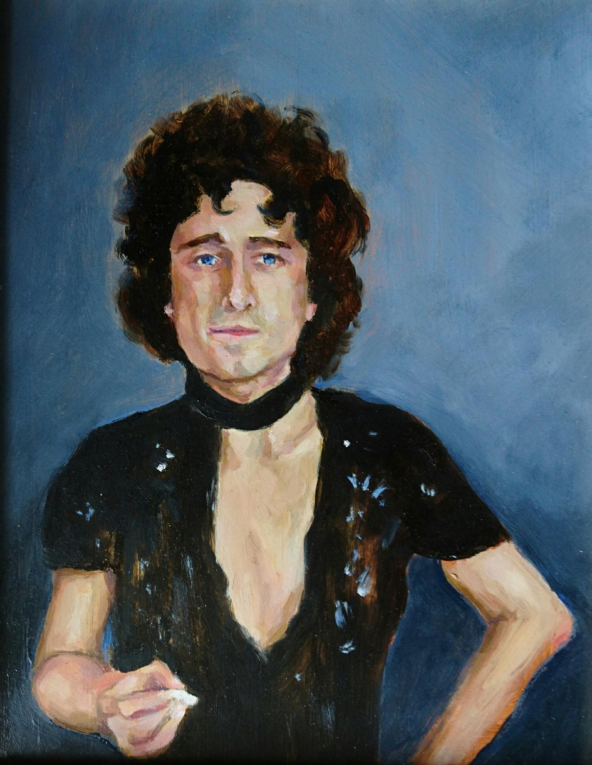 Glam Rocker, Oil on board, 2017