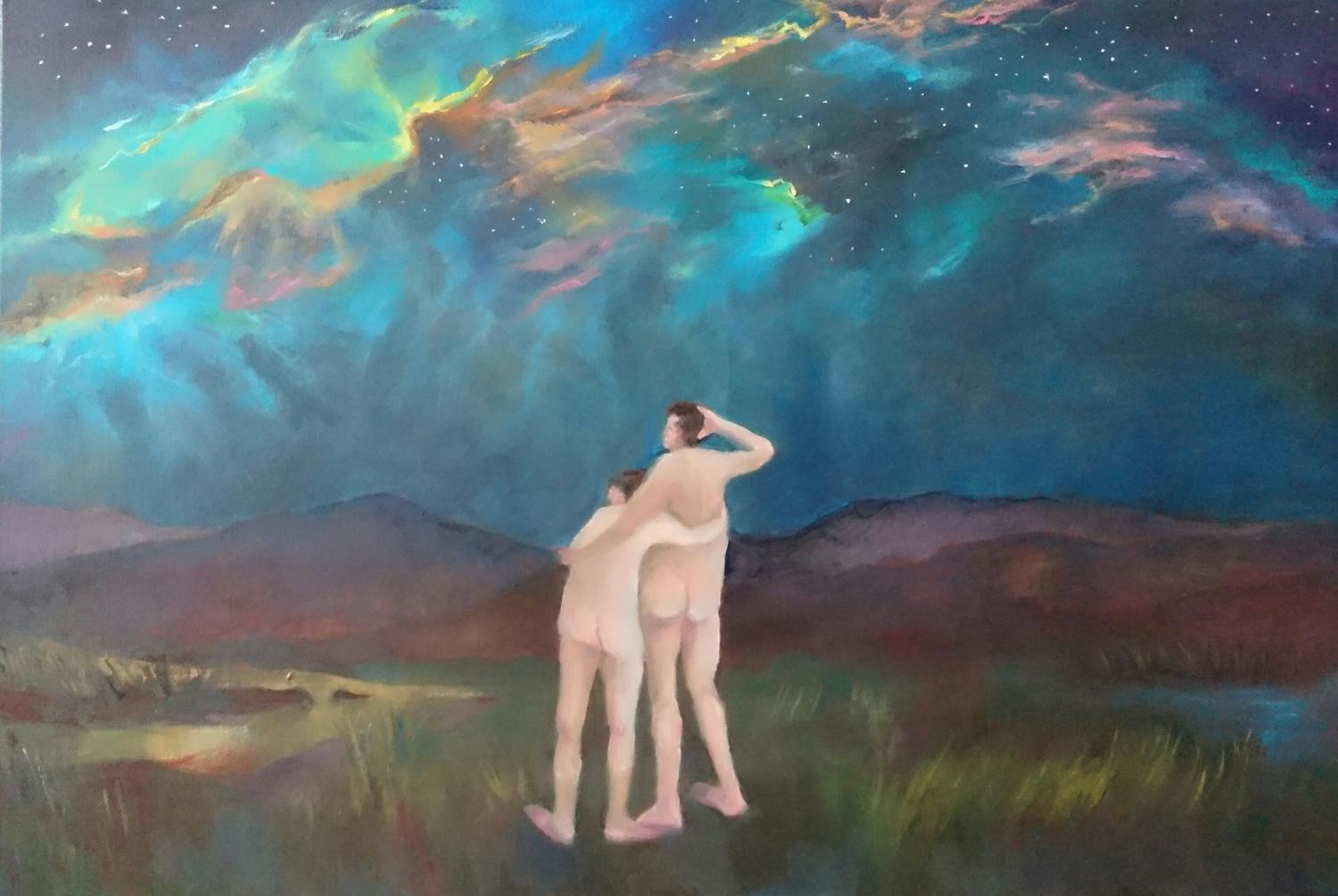 Stargazing (Wanderlust), Oil on Canvas, 2018