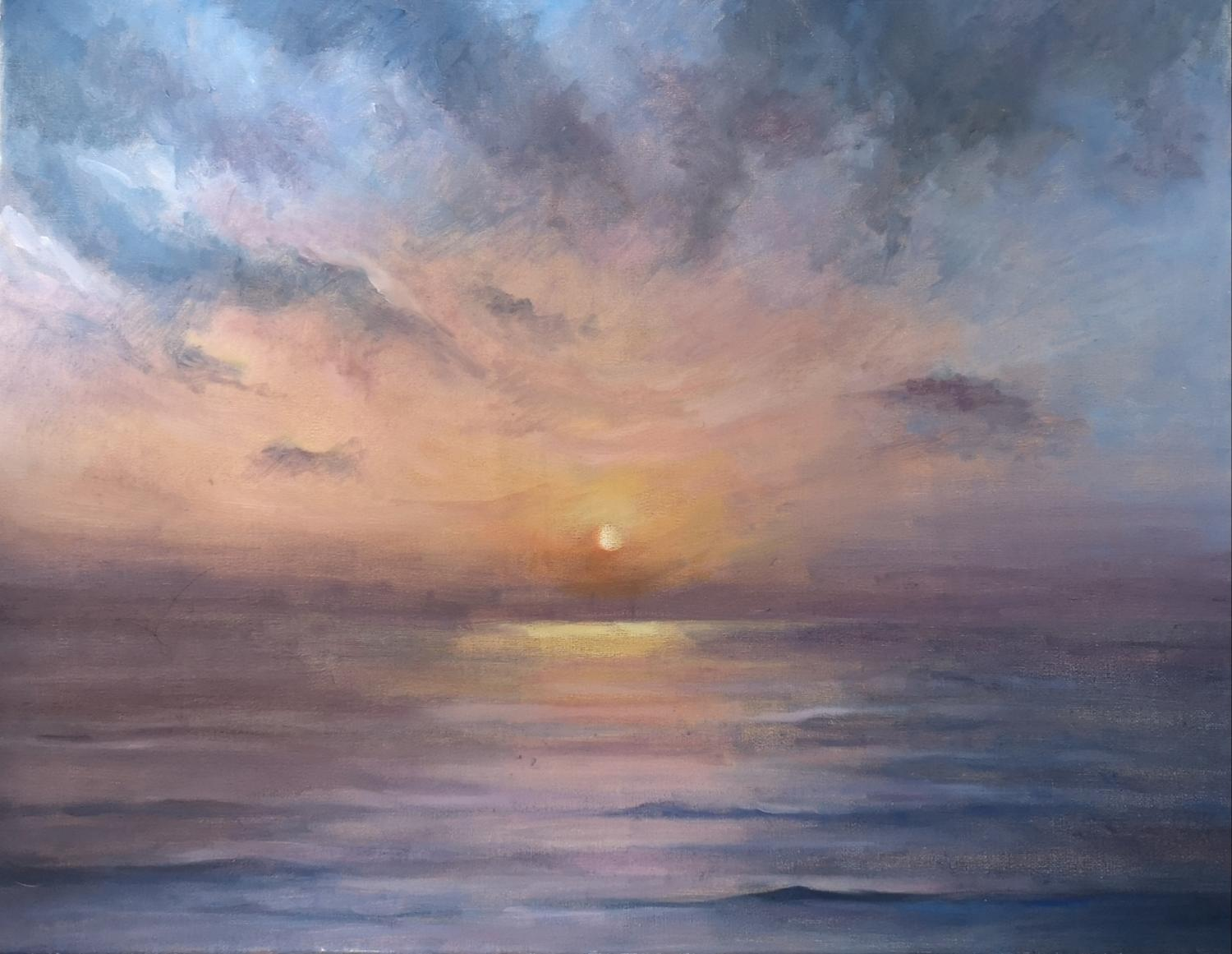 Skyros Sunrise, Oil on linen, 2018