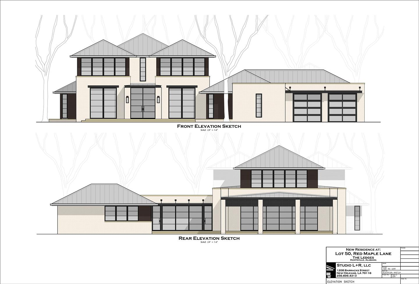 front rear elevations