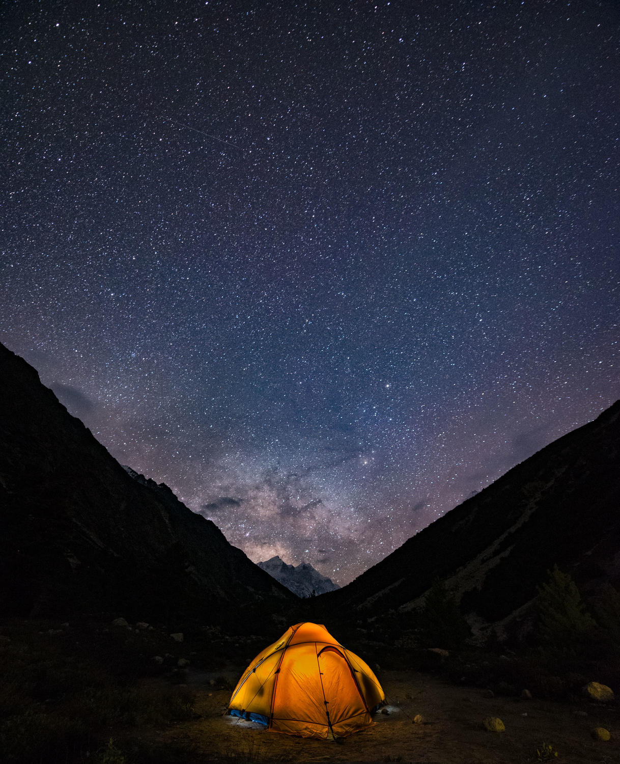Milky Way rising from Chirbasa camp site