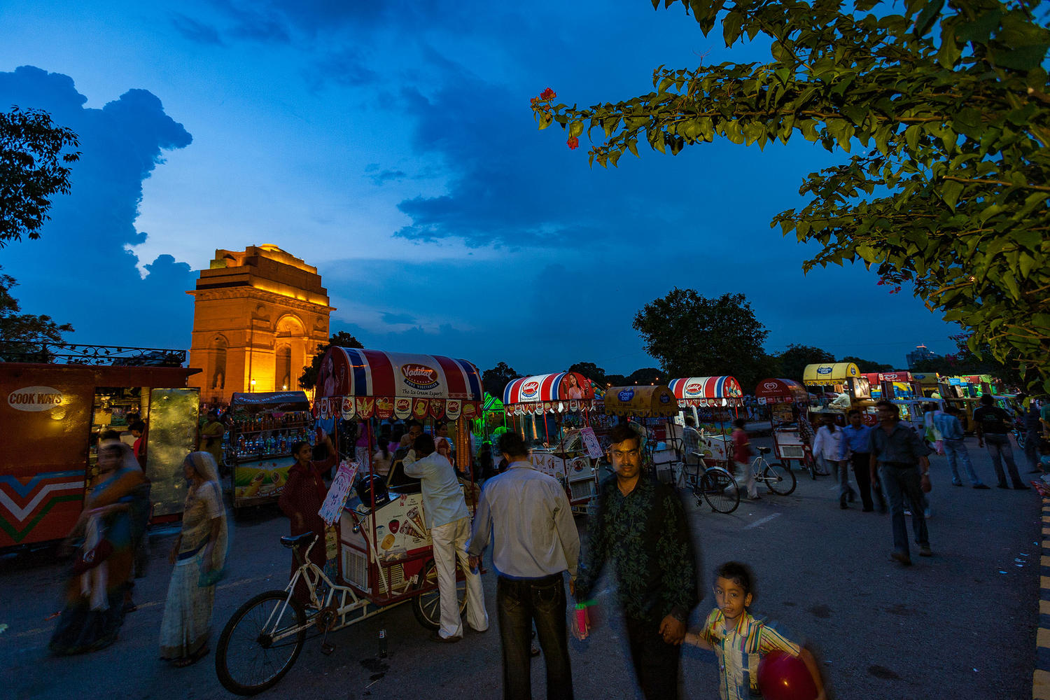 An evening at India Gate