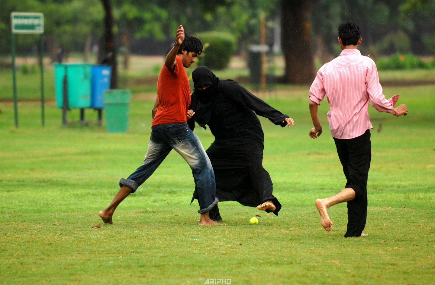 Football in Burqa