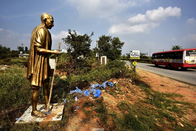 Abandoned Gandhi Statue