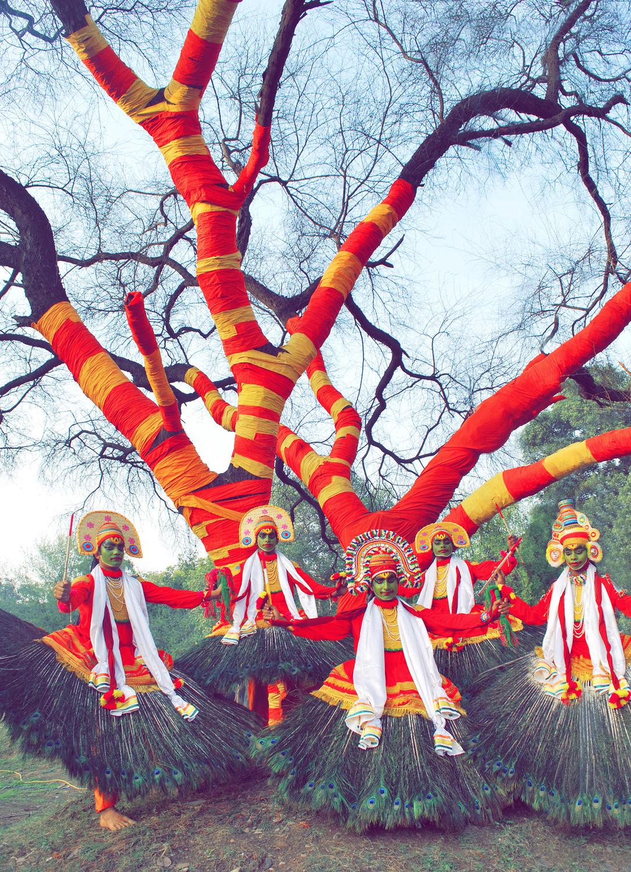 Portrait of Kathakali Dancers.