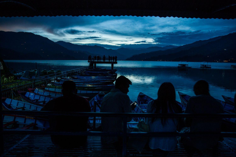 Rainy evening, Pokhara, Nepal,