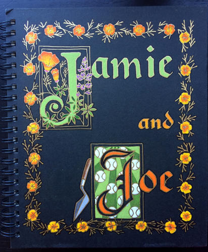 Jamie and Joe's wedding guest book