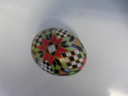 Chicken egg, oil paint