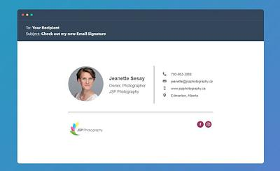 How to create an email signature with your new headshot
