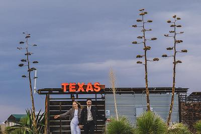 Reed & Adrianne - Marfa Texas Engagement Session